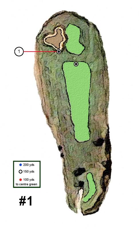 STittsville Golf Course Hole 1 Layout Yardage
